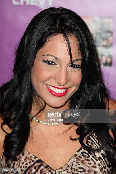 Alejandra Oraa poses at the 2008 Premio FAMA Awards at Gusman Center for the Performing Arts on October 29 2008 in Miami