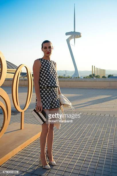Alejandra Ortiz Domecq attends the Mango fashion show at 'Barcelona 080 Fashion AutumnWinter 20152016' on June 29 2015 in Barcelona Spain