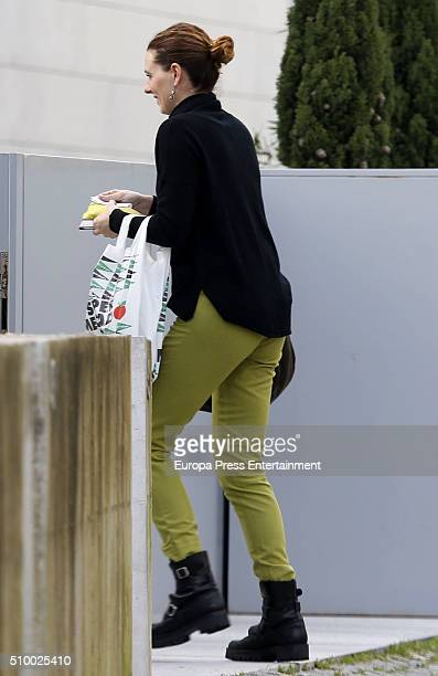 Alejandra Osborne is seen at Iker Casillas's home during the set filming of 'En tu casa o en la mia' Tv programme on January 28 2016 in Porto Portugal