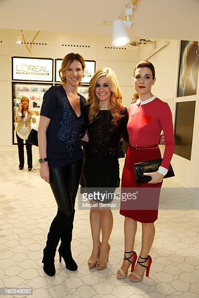 Alejandra Prat Alexandra Jimenez and Raquel Sanchez Silva attend the 'Blanca Suarez is Patroness' of the New L'Oreal Academy launch on January 29...