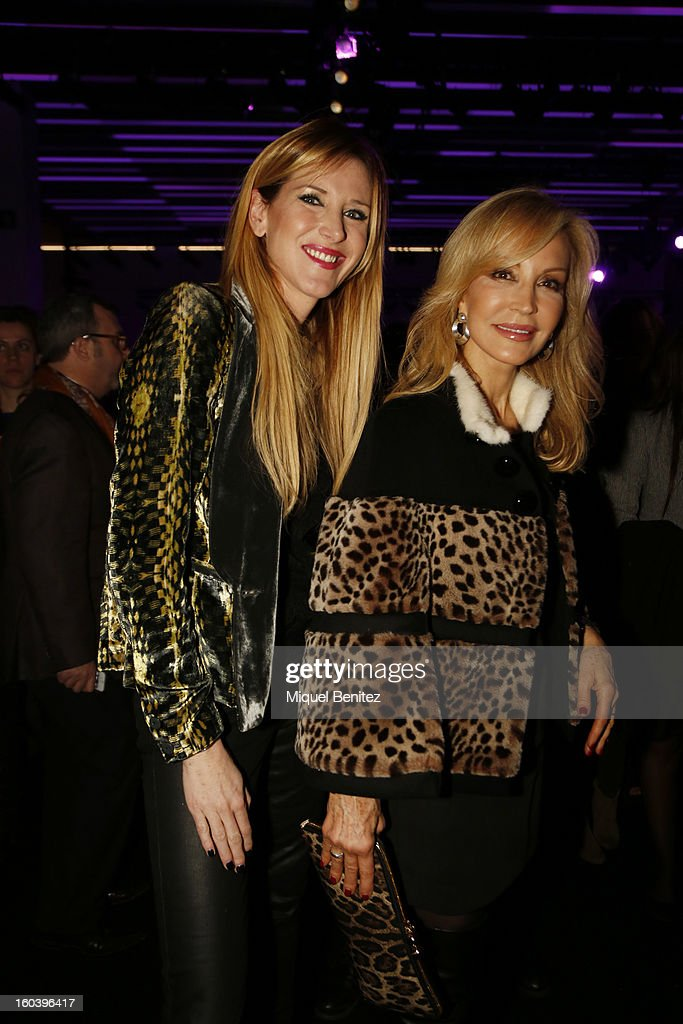 Alejandra Prat and Carmen Lomana attend the Custo Barcelona fashion show as part of the 080 Barcelona Fashion Week Autumn/Winter 2013-2014 on January 30, 2013 in Barcelona, Spain.