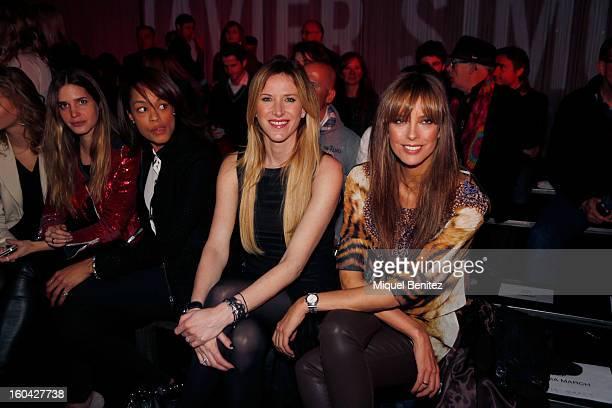 Alejandra Prat and Estefania Luyk attend the Javier Simorra fashion show as part of the 080 Barcelona Fashion Week Autumn/Winter 20132014 on January...