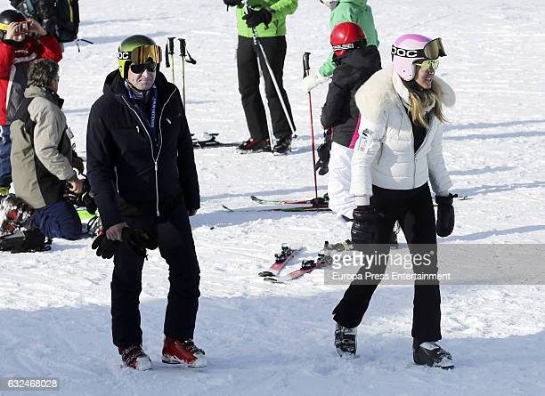 Alejandra Prat and Juan Manuel Alcaraz are seen on January 21 2017 in Baqueira Beret Spain