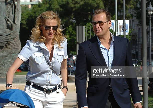Alejandra Prat and Juan Manuel Alcaraz are seen sighting on July 6 2010 in Barcelona Spain