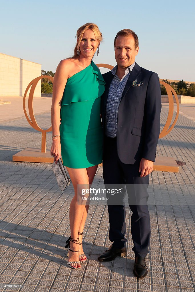Alejandra Prat and Juan Manuel Alcaraz attend the Mango fashion show at 'Barcelona 080 Fashion Autumn\Winter 2015-2016' at the Olympic Stadium of Barcelona on June 29, 2015 in Barcelona, Spain.