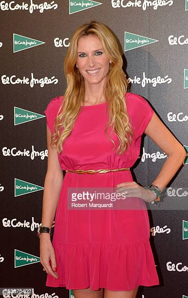 Alejandra Prat attends a photocall for 'Shopping Night' hosted by department store El Corte Ingles at the Illa Commercial Center on October 10 2012...