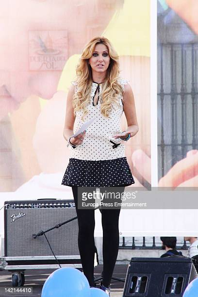 Alejandra Prat attends 'Si A La Vida' event at Puerta del Sol on March 24 2012 in Madrid Spain
