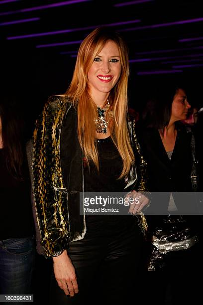 Alejandra Prat attends the Custo Barcelona fashion show as part of the 080 Barcelona Fashion Week Autumn/Winter 20132014 on January 30 2013 in...