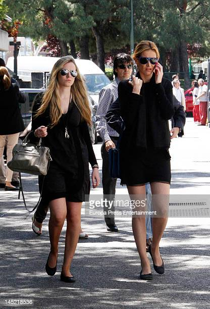 Alejandra Prat attends the funeral of president of Real Madrid Florentino Perez's wife Pitina Sandoval at La Almudena crematorium on May 23 2012 in...