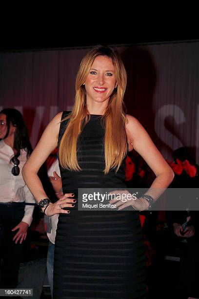 Alejandra Prat attends the Javier Simorra fashion show as part of the 080 Barcelona Fashion Week Autumn/Winter 20132014 on January 31 2013 in...