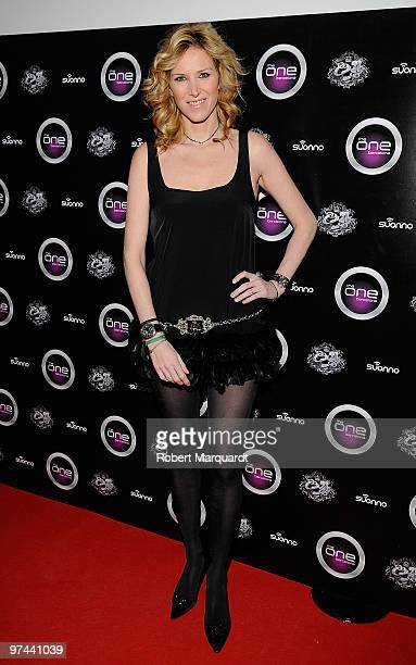 Alejandra Prat attends the opening of the One BCN club on March 4 2010 in Barcelona Spain