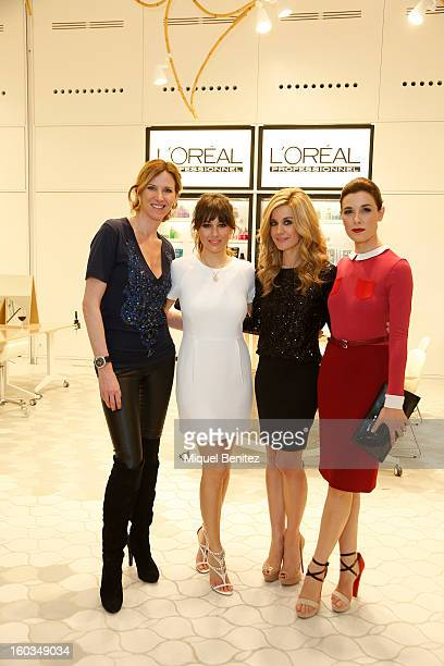 Alejandra Prat Blanca Suarez Alexandra Jimenez and Raquel Sanchez Silva attend the 'Blanca Suarez is Patroness' of the New L'Oreal Academy launch on...