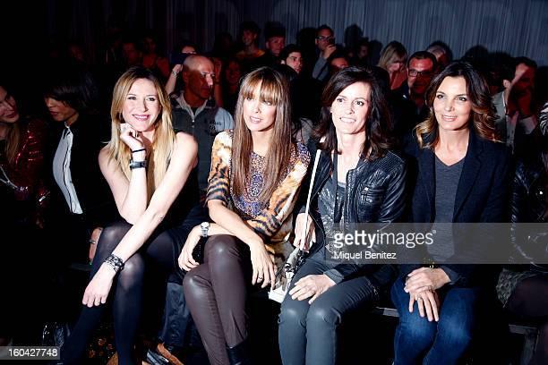 Alejandra Prat Estefania Luyk Nuria March and Mar Flores attends the Javier Simorra fashion show as part of the 080 Barcelona Fashion Week...