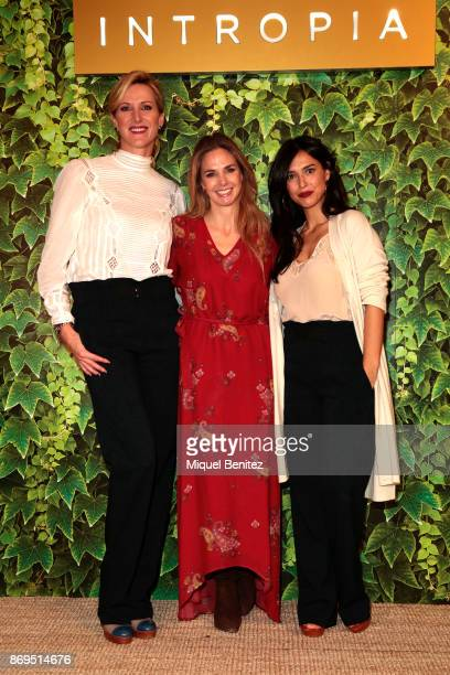 Alejandra Prat Genoveva Casanova and Cristina Brondo attend Intropia Charity Rummage on November 2 2017 in Barcelona Spain