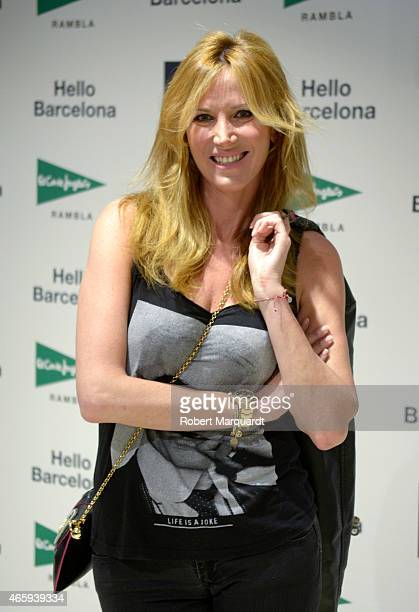 Alejandra Prat poses during a photocall for GAP Space Inauguration at the El Corte Ingles store in Plaza Catalunya on March 11 2015 in Barcelona Spain