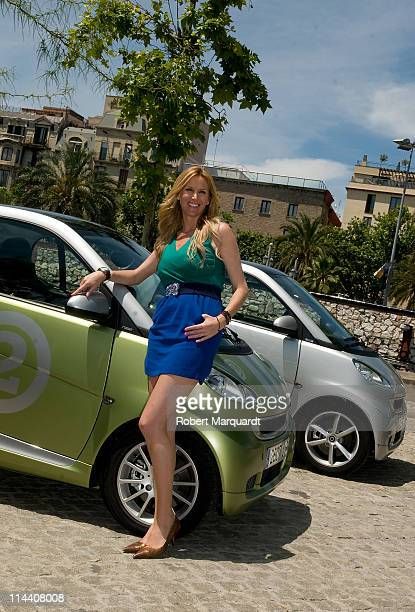 Alejandra Prat presents the new 'Smart Fortwo Electric Drive' at the Smart Urban Stage on May 19 2011 in Barcelona Spain