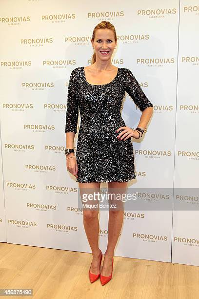 Alejandra Prats attends the 'Pronovias' flagship store opening on October 8 2014 in Barcelona Spain