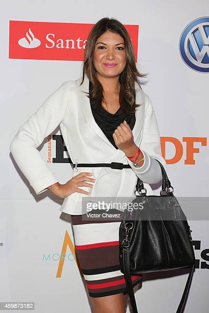 Alejandra Riquelme attends the EstiloDF 4th Anniversary at Aqua Bosques hotel on December 2 2014 in Mexico City Mexico