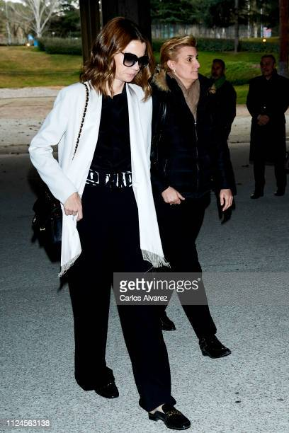Alejandra Rojas and Maria Zurita attend the Elio Berhanyer Funeral Chapel at Museo del Traje on January 24 2019 in Madrid Spain