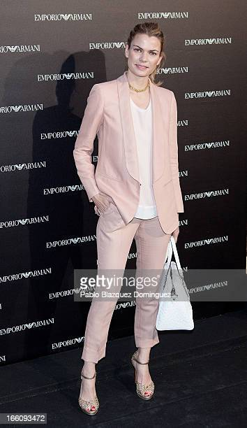 Alejandra Rojas attends Emporio Armani boutique opening on April 8 2013 in Madrid Spain