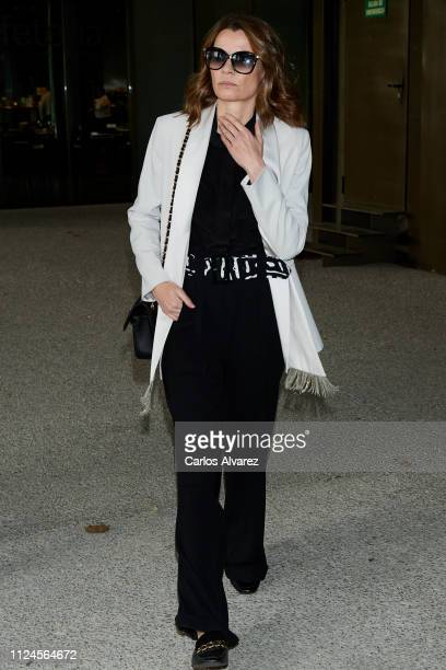 Alejandra Rojas attends the Elio Berhanyer Funeral Chapel at Museo del Traje on January 24 2019 in Madrid Spain