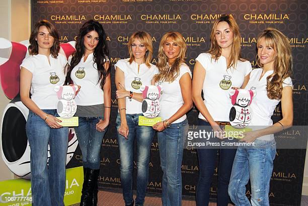 Alejandra Rojas Noelia Lopez Almudena del Pozo Patricia Olmedilla Priscilla del Gustin and Vega RoyoVillanova attend the launching of the charity...