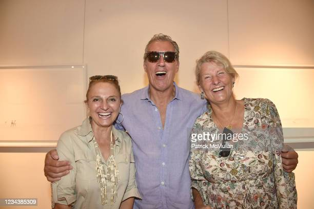"""Alejandra Rossetti, Pedro Ryan and Anne Prosser attend the release of Christophe von Hohenberg's new book """"The White Album of The Hamptons"""" and Bruce..."""