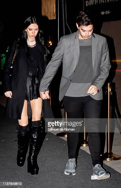 Alejandra Rubio and Alvaro Lobo celebrate her birthday on March 23 2019 in Madrid Spain