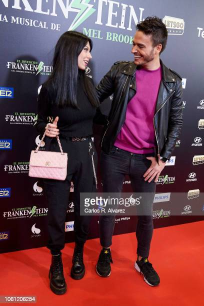 Alejandra Rubio and David Moreno attend 'El Jovencito Frankenstein' premiere at La Luz Philips Teather on November 13 2018 in Madrid Spain