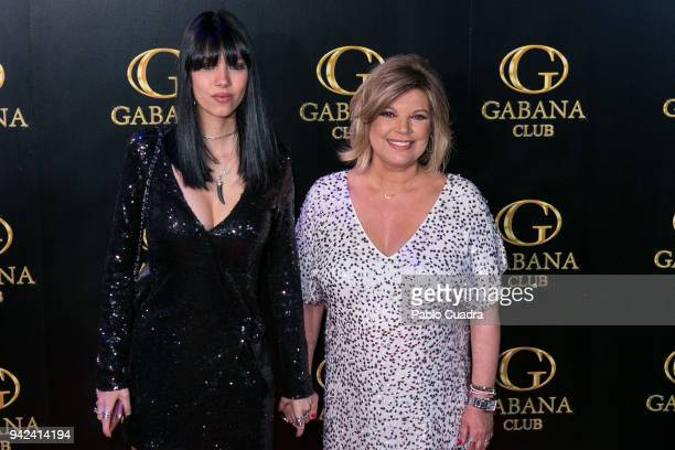 Alejandra Rubio and her mother Terelu Campos attend the Alejandra Rubio 18th birthday party at Gabana Club on April 5 2018 in Madrid Spain