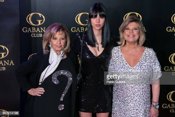 Alejandra Rubio her mother Terelu Campos and her grandmother Maria Teresa Campos attend the Alejandra Rubio 18th birthday party at Gabana Club on...