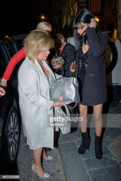 Alejandra Rubio her mother Terelu Campos attend the Alejandra Rubio 18th birthday party at Gabana Club on April 5 2018 in Madrid Spain