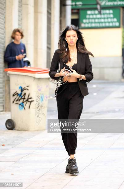 Alejandra Rubio is seen on September 24 2018 in Madrid Spain