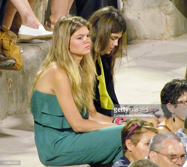 Alejandra Ruiz Rato attends at the bullfight at bullring on August 11 2011 in Palma de Mallorce Spain