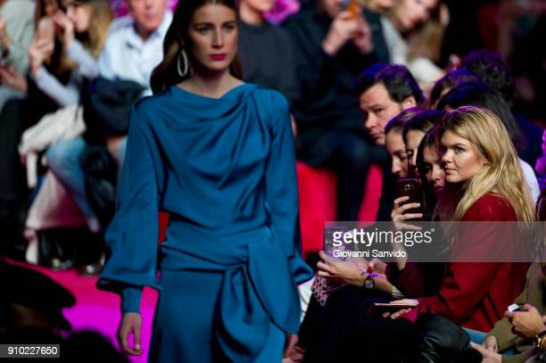 Alejandra Ruiz Rato is seen at the Jorge Vazquez show during the MercedesBenz Fashion Week Madrid Autumn/Winter 201819 at Ifema on January 25 2018 in...