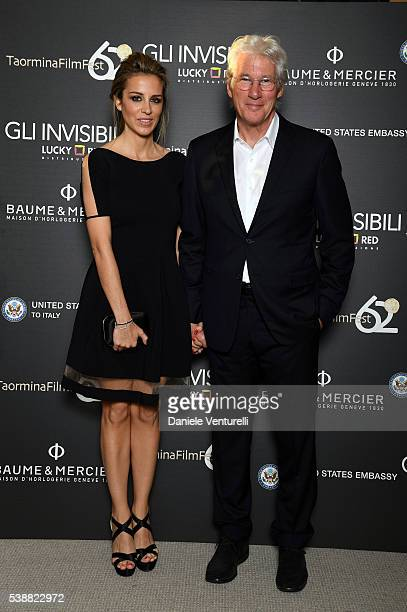 Alejandra Silva and actor Richard Gere attend the dinner hosted by Baume & Mercier to celebrate Richard Gere 'Time Out Of mind' on June 8, 2016 in...