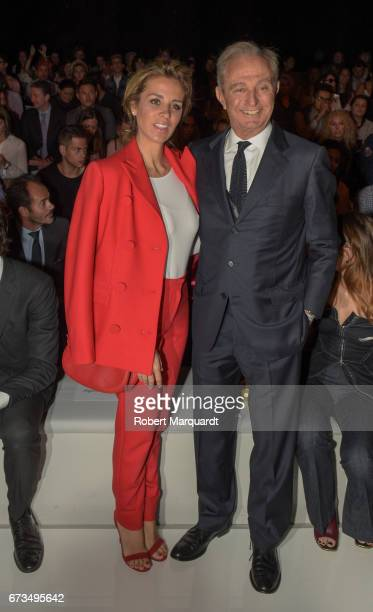 Alejandra Silva and Alberto Palatchi Ribera attend the Studio St Patrick show during Barcelona Bridal Fashion Week 2017 on April 26 2017 in Barcelona...