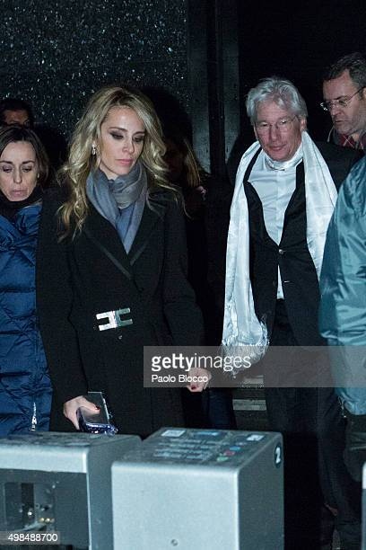 Alejandra Silva and Richard Gere are seen on November 23, 2015 in Madrid, Spain.