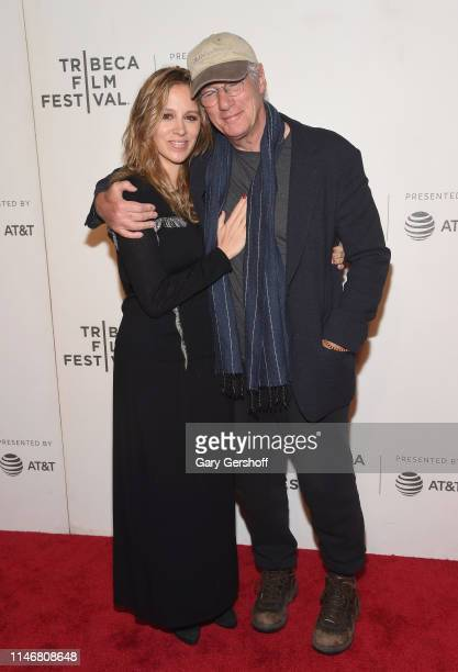 Alejandra Silva and Richard Gere attend a screening of 'It Takes a Lunatic' during the 2019 Tribeca Film Festival at BMCC Tribeca PAC on May 03 2019...