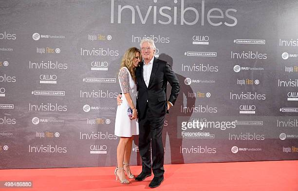 Alejandra Silva and Richard Gere attend the 'Invisibles' Premiere at Callao Cinema on November 23 2015 in Madrid Spain