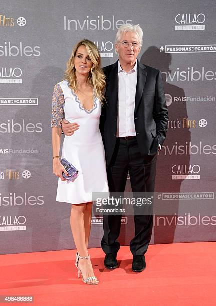 Alejandra Silva and Richard Gere attend the 'Invisibles' Premiere at Callao Cinema on November 23, 2015 in Madrid, Spain.