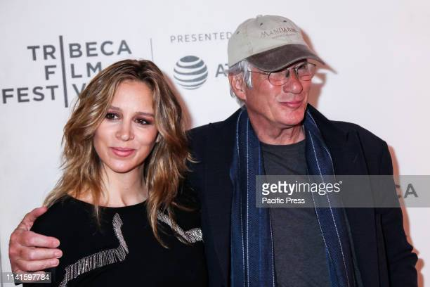 "Alejandra Silva and Richard Gere attends at ""It Takes A Lunatic"" 2019 Tribeca Film Festival at Stella Artois Theater at BMCC Tribeca Performing Arts..."