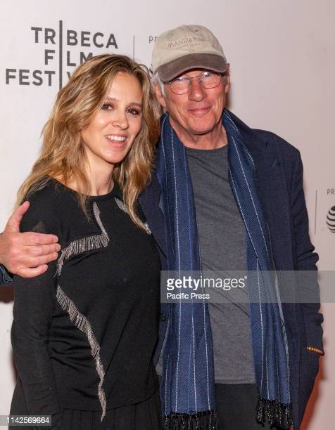 Alejandra Silva and Richard Gere attends screening of It Takes a Lunatic during Tribeca Film Festival at Stella Artois Theatre at BMCC TPAC
