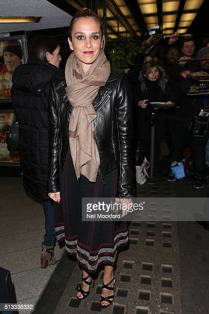 Alejandra Silva arriving for a screening of Time Out Of Mind at Curzon Mayfair on March 2, 2016 in London, England.