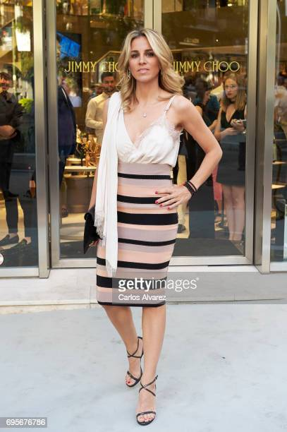Alejandra Silva attends the Jimmy Choo Boutique reopening on June 13 2017 in Madrid Spain
