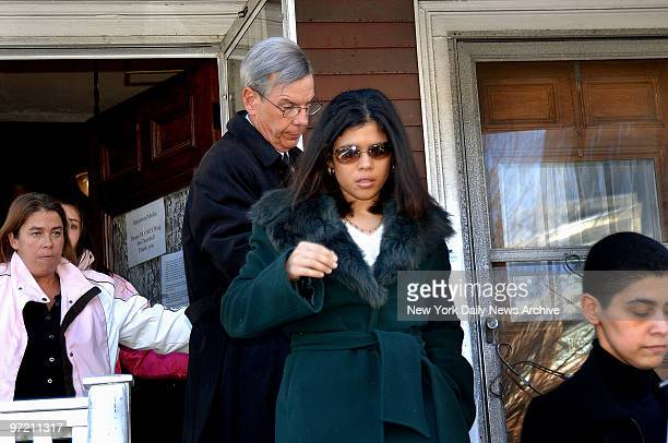 Alejandra St Guillen leaves her home in Boston Mass with her stepfather to attend a wake for her sister Imette on what would have been her 25th...