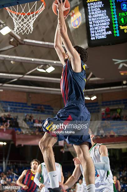 Alejandro Abrines #10 of FC Barcelona in action during the 20132014 Turkish Airlines Euroleague Regular Season Date 3 game between FC Barcelona Regal...