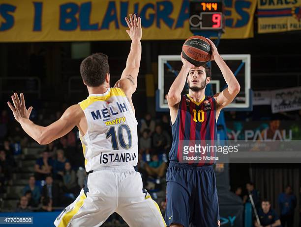 Alejandro Abrines, #10 of FC Barcelona in action during the 2013-2014 Turkish Airlines Euroleague Top 16 Date 9 game between FC Barcelona Regal v...