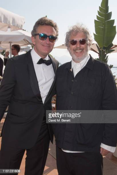 Alejandro Agag and Malcolm Venville attend a cocktail party hosted by Alejandro Agag ahead of the World Premiere of the Formula E documentary And We...