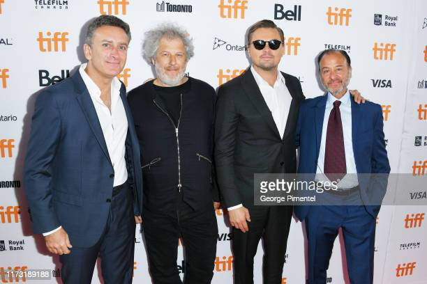 Alejandro Agag Malcolm Venville Leonardo DiCaprio and Fisher Stevens attend the And We Go Green premiere during the 2019 Toronto International Film...